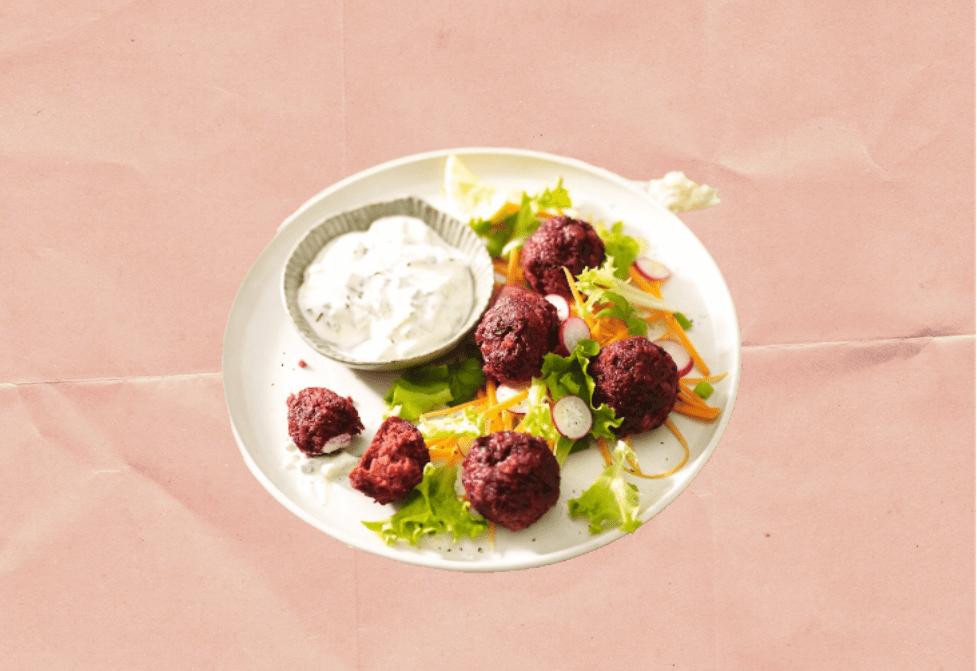 IDEAL recipe for baked beetroot falafel