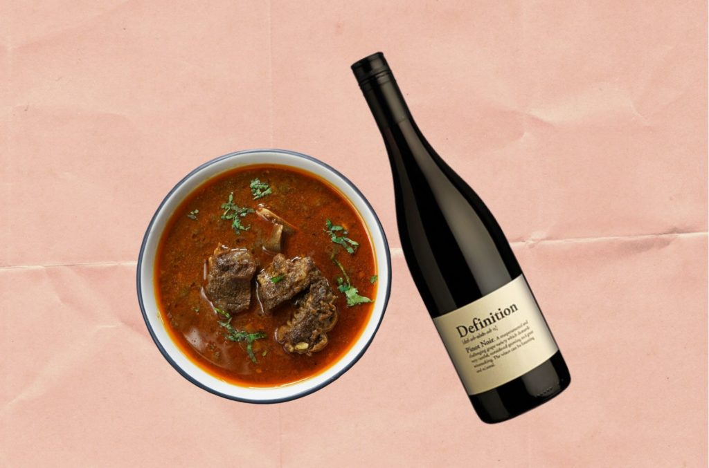 WHAT TO DRINK WITH LAMB ROGAN JOSH: 'DEFINITION MARLBOROUGH PINOT NOIR 2018'