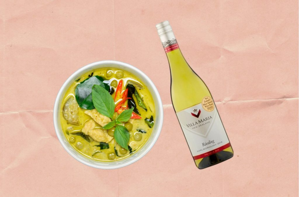 WHAT TO DRINK WITH THAI GREEN CURRY: 'VILLA MARIA PRIVATE BIN RIESLING 2018 MARLBOROUGH