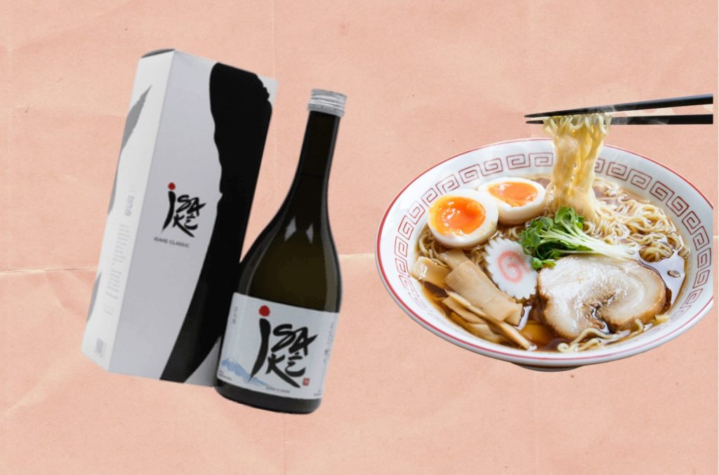 WHAT TO DRINK WITH RAMEN: ISAKÉ CLASSIC 'JUNMAI GINJO' FROM TATSUUMA-HONKE BREWERY
