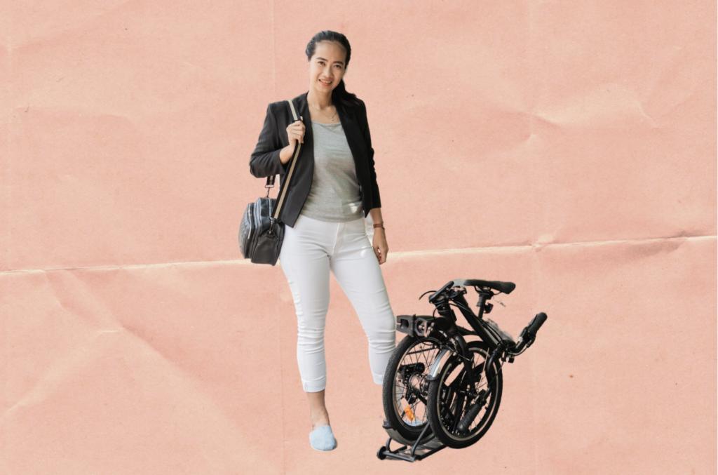 woman with e-bike